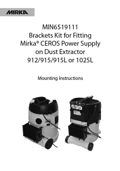 bracket kit for ceros power instruction 1 copy - Bracket Kit for Mirka CEROS Power Instruction