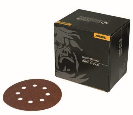 mirka coarse cut 125mm 8holes 450x388 - COARSE CUT 125мм 8 отв P100 (50 шт/уп)