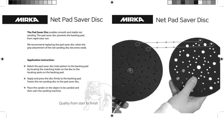 mirka net pad saver disc instruction copy - Mirka Net Pad Saver Instruction