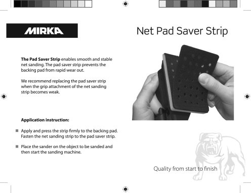 mirka net pad saver strip instruction copy - Mirka Net Pad Saver Strip Instruction