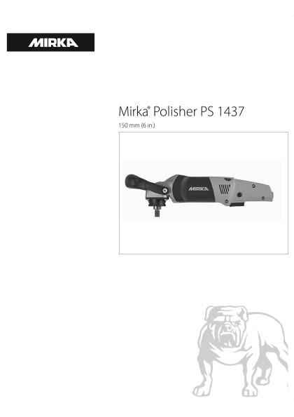 mirka polisher ps 1437 150mm 6in 1 copy - Mirka Polisher PS 1437 150mm