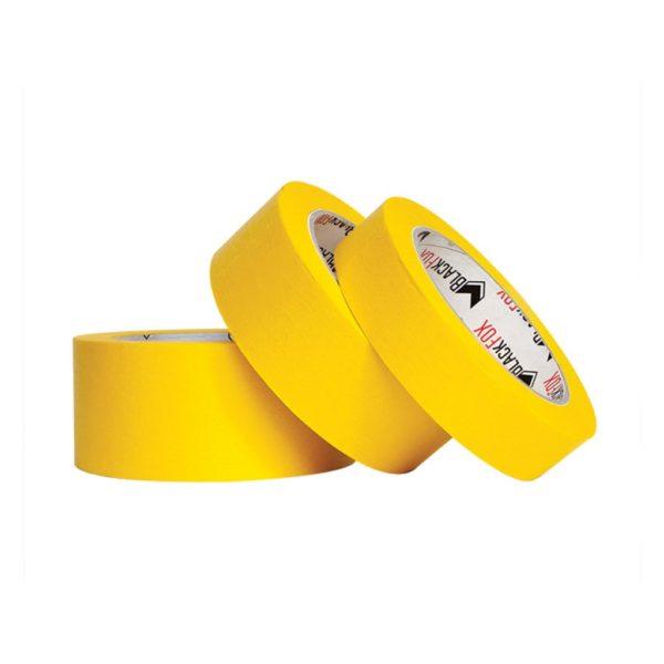 2 600x600 - Лента малярная BlackFox Extra 36х40 м 60 мин ярко-желтая (6 шт/уп) (24 шт/кор)