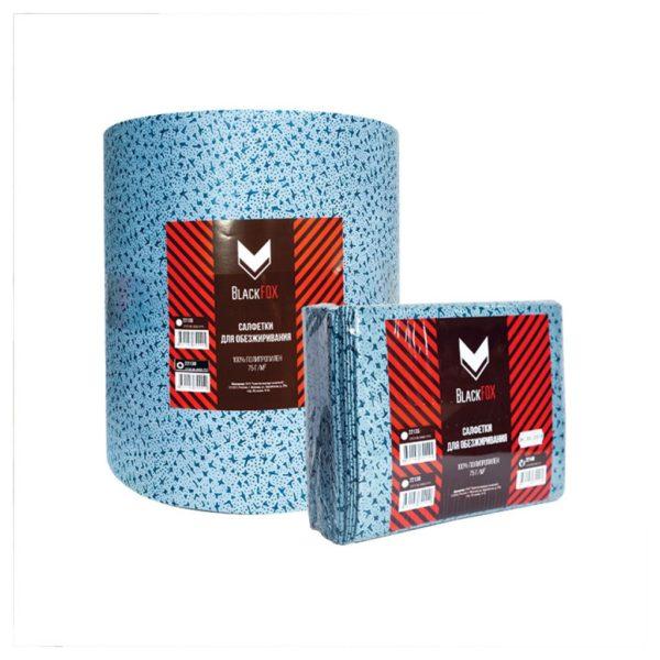 11 600x600 - Cалфетки для обезжиривания BlackFox 100% полипропилен 75 г/м2 32x38 см голубые (500 шт/уп)