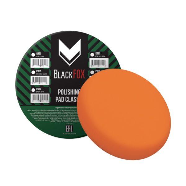 23 600x600 - Полировальник поролоновый на липучке BlackFox Classic 150х25 мм универсальный оранжевый