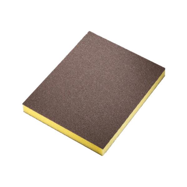 tovar 04 600x600 - Siasponge soft губка двусторонняя 98х120х13 мм fine P500 желтая (20 шт/уп)