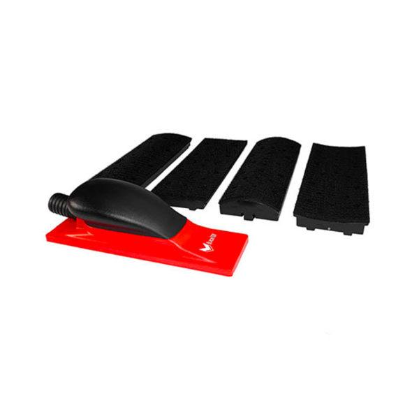 51922kit 1 600x600 - BlackFox набор для шлифования поверхностей 70х198 мм 4 накладки адаптер регулятор пылесоса
