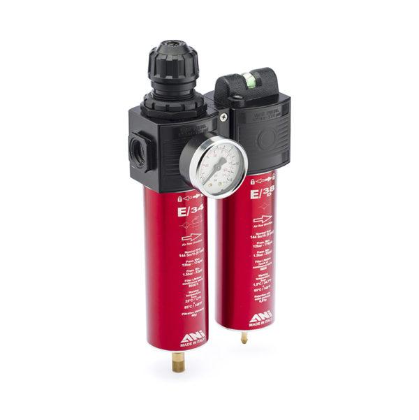 ah117306 600x601 - ANI Двухступенчатый комби-фильтр тонкой очистки E/32A с манометром и регулятором давления