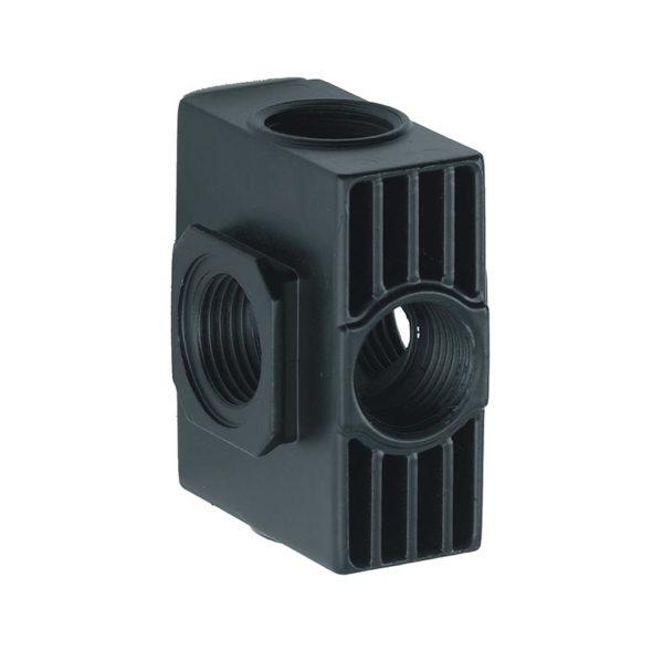 bh118690an 600x599 - ANI Отвод для фильтров E186/20 с 4мя воздушными выходами 1/4А и 2мя заглушками
