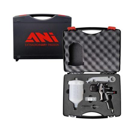 case black 450x450 - ANI BLACK CLEAR краскопульт с верхним пластиковым бачком 0,6л для финишных покрытий, дюза 1,4 в кейсе (Копировать)