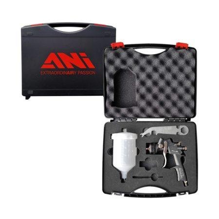 case plus 2 450x450 - ANI 160 Plus HPS краскопульт с верхним пластиковым бачком 0,6л, дюза 1,7 в кейсе